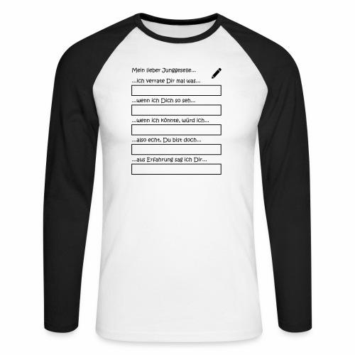 Junggesellenabschied Interaktionsspiel Junggeselle - Männer Baseballshirt langarm