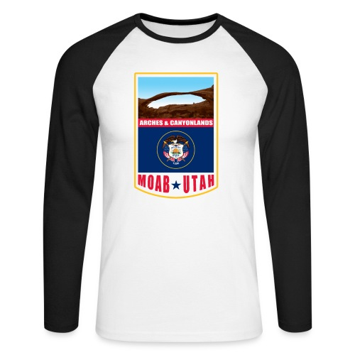 Utah - Moab, Arches & Canyonlands - Men's Long Sleeve Baseball T-Shirt