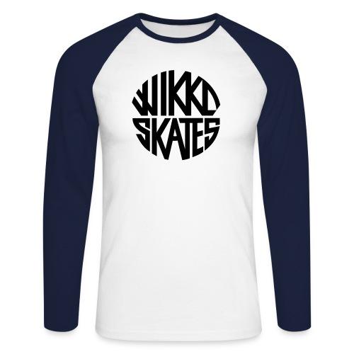 wikkoskates logo vektori - Men's Long Sleeve Baseball T-Shirt