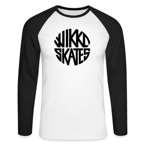 wikkoskates logo vektori - Men's Long Sleeve Baseball T-Shirt