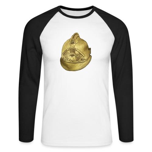 Casque pompier - T-shirt baseball manches longues Homme