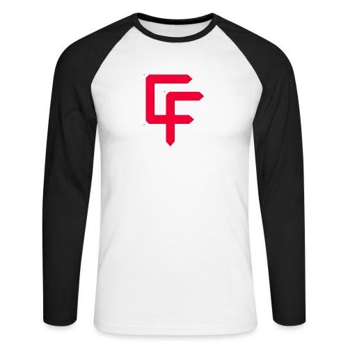 CF Final White Border t shirts with text thin whit - Men's Long Sleeve Baseball T-Shirt