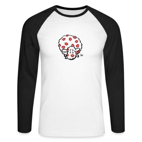Kiss Ewe - Men's Long Sleeve Baseball T-Shirt