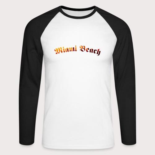 Miami Beach - Männer Baseballshirt langarm