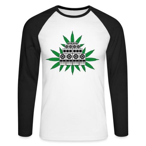 Ganja Sound System - Men's Long Sleeve Baseball T-Shirt