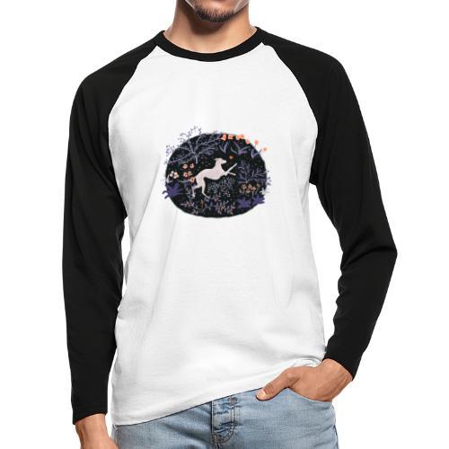 Windhund im Traumwald - Männer Baseballshirt langarm