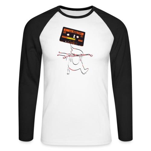 Lui Paard CassetteDemoGra - Mannen baseballshirt lange mouw