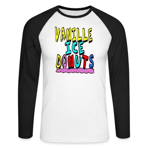 vanille eis donuts - Männer Baseballshirt langarm