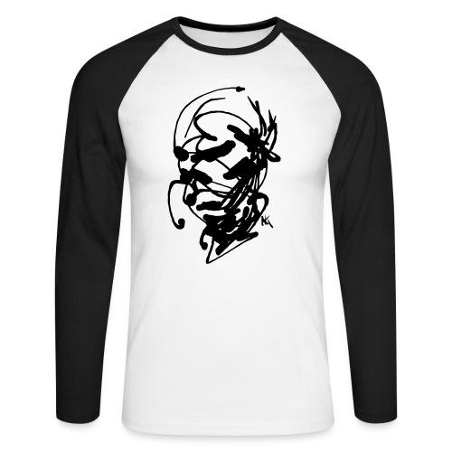 face - Men's Long Sleeve Baseball T-Shirt