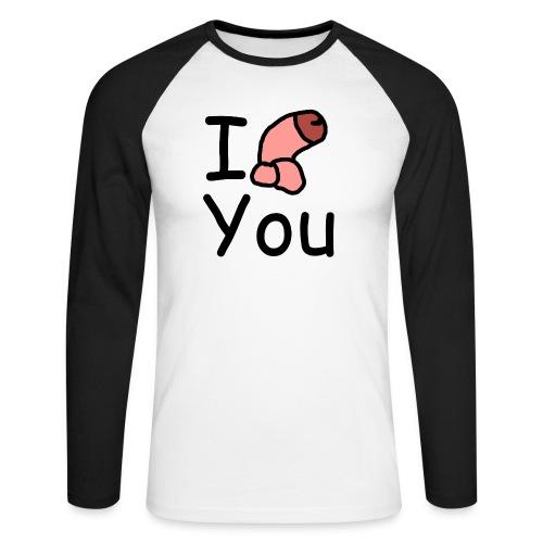 I dong you pack - Men's Long Sleeve Baseball T-Shirt