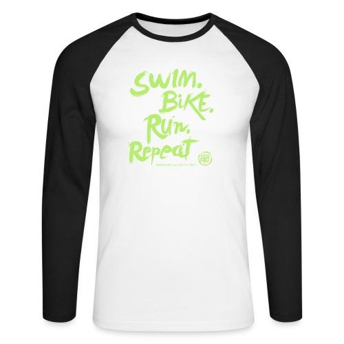 Swim. Bike. Run. Repeat - Maglia da baseball a manica lunga da uomo