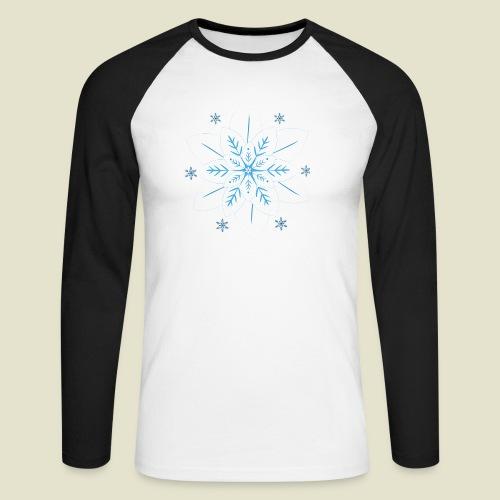 Snowflake - Männer Baseballshirt langarm