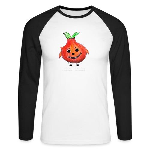 mens black T-shirt Ollie the Onion - Men's Long Sleeve Baseball T-Shirt