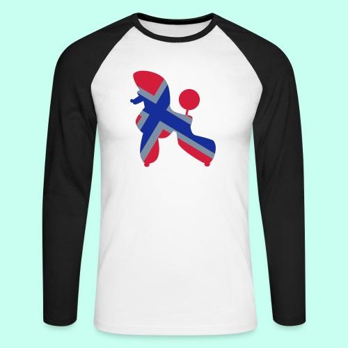 Pudel Poodle - Männer Baseballshirt langarm