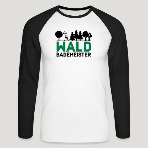 Waldbademeister für das Waldbaden im Waldbad - Männer Baseballshirt langarm