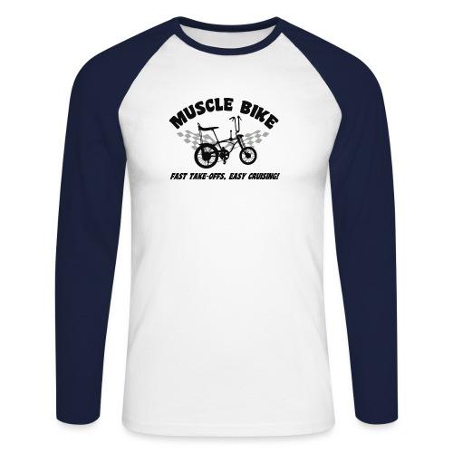 musclebike04 - T-shirt baseball manches longues Homme