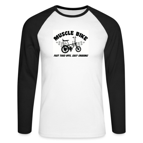 musclebike04 - T-shirt baseball manches longues Homme