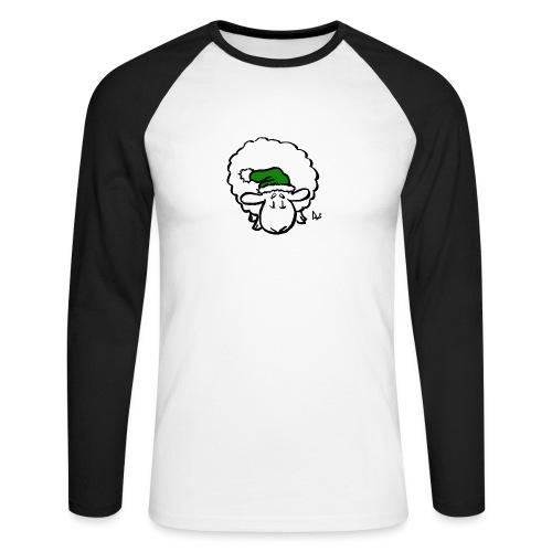 Santa Sheep (green) - Langermet baseball-skjorte for menn