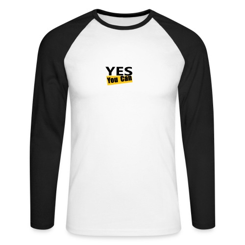 Yes you can - T-shirt baseball manches longues Homme
