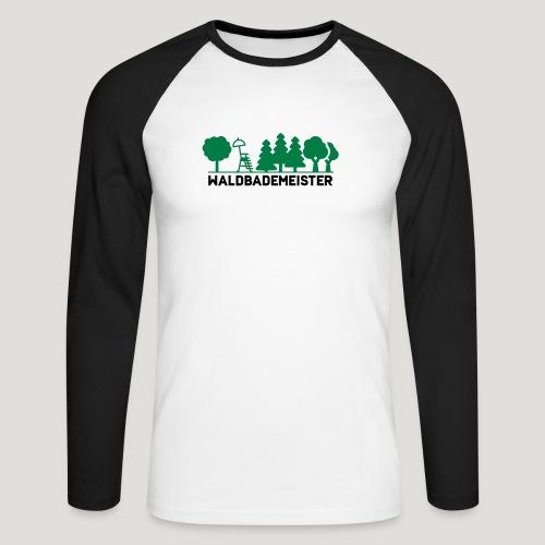Waldbademeister fürs Waldbaden und Waldbad - Männer Baseballshirt langarm