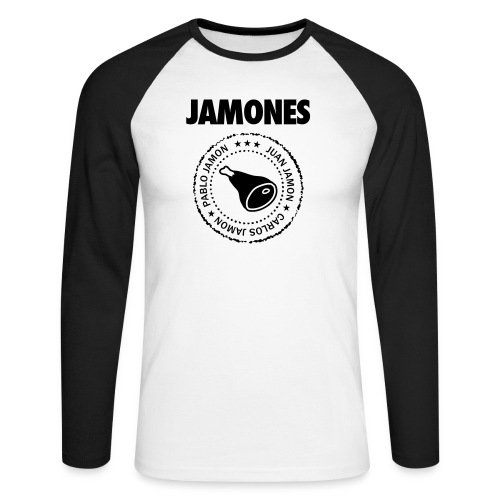 Jamones - Names - Men's Long Sleeve Baseball T-Shirt