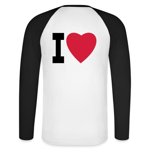 create your own I LOVE clothing and stuff - Men's Long Sleeve Baseball T-Shirt
