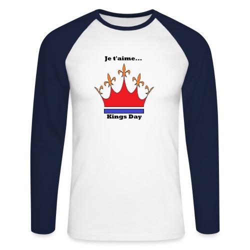Je taime Kings Day (Je suis...) - Mannen baseballshirt lange mouw