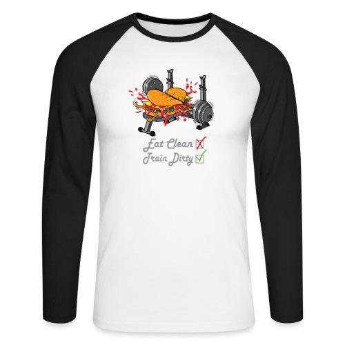 Hamburger Développé Couché Musculation - T-shirt baseball manches longues Homme