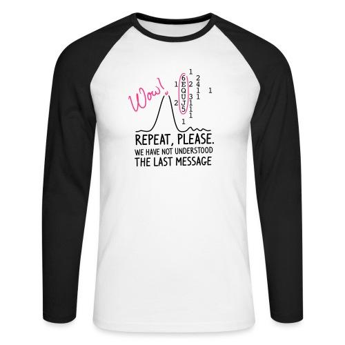 repeat please - Männer Baseballshirt langarm