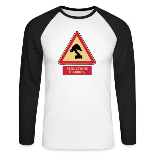 panneau reductions d'arbres - T-shirt baseball manches longues Homme