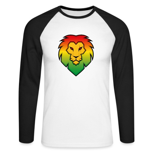 Ragga Lion - Men's Long Sleeve Baseball T-Shirt