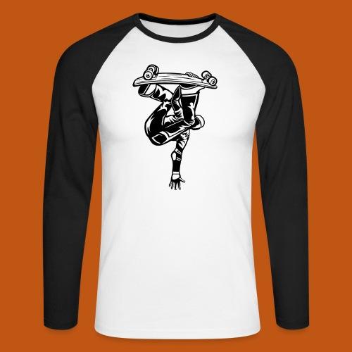 Skater / Skateboarder 03_schwarz - Männer Baseballshirt langarm