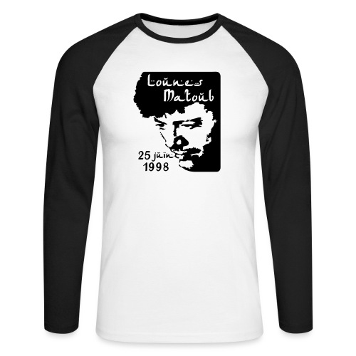 Motif hommage à Lounes Matoub - T-shirt baseball manches longues Homme