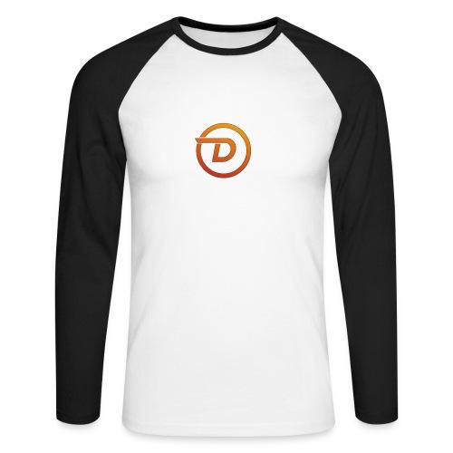 Demo Esport Logo - Langermet baseball-skjorte for menn