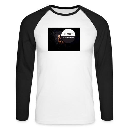 KeMoT odzież limitowana edycja - Koszulka męska bejsbolowa z długim rękawem