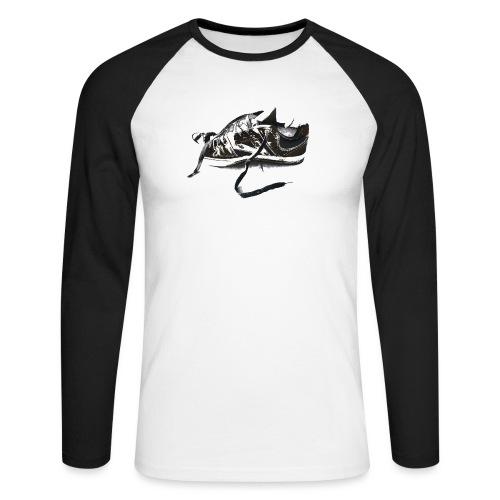 shoe (Saw) - Men's Long Sleeve Baseball T-Shirt