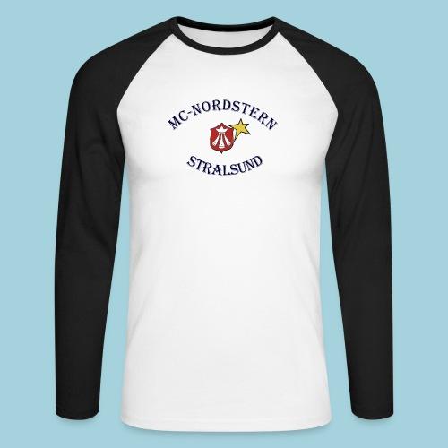 MC Nordstern Schrift gebogen - Männer Baseballshirt langarm