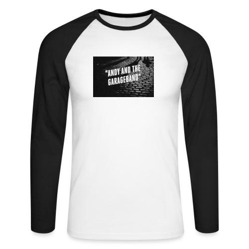 Black and White - Langermet baseball-skjorte for menn