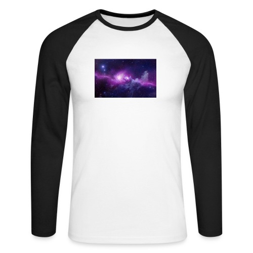 tshirt galaxy - T-shirt baseball manches longues Homme