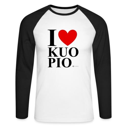 I LOVE KUOPIO ORIGINAL (musta) - Miesten pitkähihainen baseballpaita