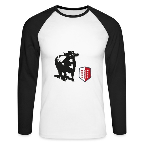 Vache - Cow - Männer Baseballshirt langarm