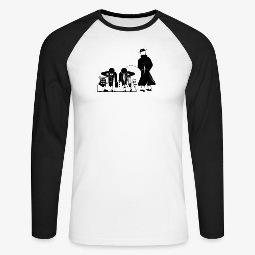 Pissing Man against war - Männer Baseballshirt langarm