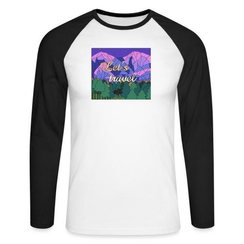 Lets Travel T-Shirt - Männer Baseballshirt langarm