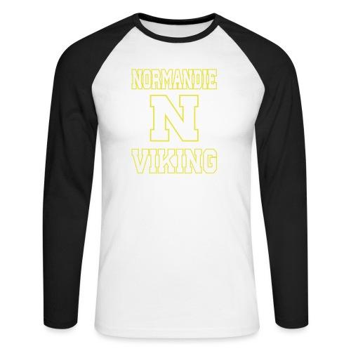 Normandie Viking Def jaune - T-shirt baseball manches longues Homme