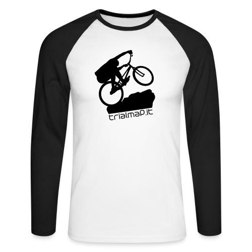 biker felpa nofil - Maglia da baseball a manica lunga da uomo