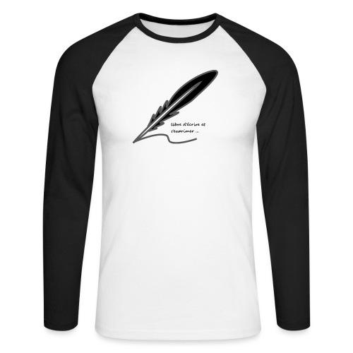 plume d'écrivain - T-shirt baseball manches longues Homme