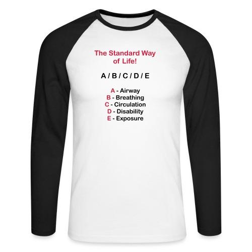 Rettungsdienst ABC Schema - Männer Baseballshirt langarm