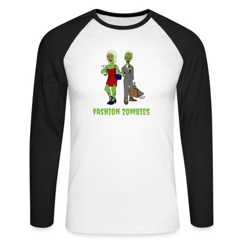 Fashion Zombie - Men's Long Sleeve Baseball T-Shirt