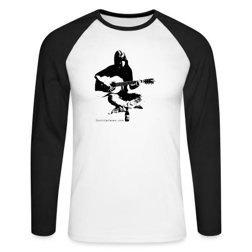 Cynthia Janes guitar BLACK - Men's Long Sleeve Baseball T-Shirt
