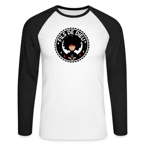 filsdeDieunoir - T-shirt baseball manches longues Homme